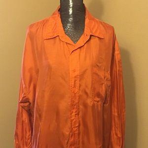 Pumpkin color silk blouse